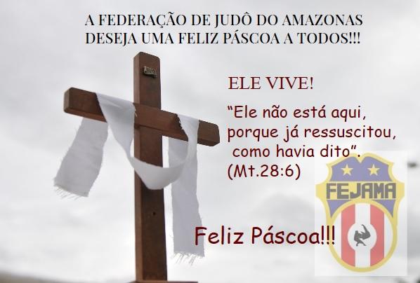 A Federação de Judô do Amazonas deseja à todos uma Feliz Páscoa!