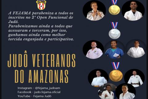 Amazonas fica em 5º lugar entre 19 Federações no 2º Open Funcional de Judô 2021