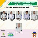 Seleção Amazonense SUB-21 Feminino de Judô embarca para lutar o Campeonato Brasileiro